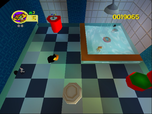 Rat Attack - Level Bathtime - The second level of House - User Screenshot
